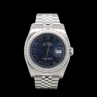 ROLEX DATEJUST 116244 diamond bezel £9995.00 - Cheshire Watch Company