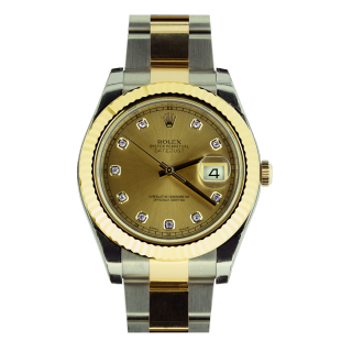 ROLEX DATEJUST II 116333 18CT YELLOW GOLD AND STEEL  - C W C