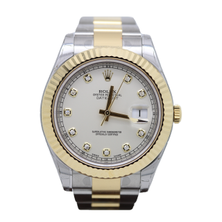 ROLEX DATEJU0ST II 116333 18CT YELLOW GOLD AND STEEL  - CHESHIRE WATCH COMPANY