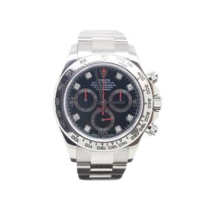 Rolex Daytona 116509 18ct white gold black diamond dial £19,995.00  - The Cheshire Watch Company
