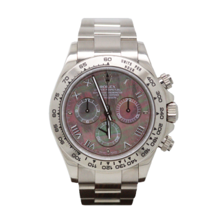 ROLEX DAYTONA 116509 18CT WHITE GOLD BLACK MOTHER OF PEARL DIAL £18,995.00
