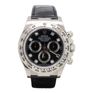Rolex Daytona 116519 18ct white gold chronograph diamond dial £15,995.00 - Cheshire Watch Company Boutique Wilmslow