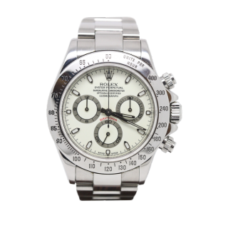 ROLEX DAYTONA 116520 STEEL CHRONOGRAPH CREAM PANNA DIAL £19,995.00 - The Cheshire Watch Company