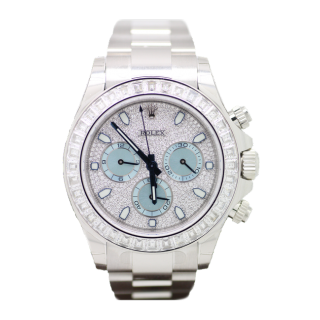 ROLEX DAYTONA MASTERPIECE 116576 TBR DIAMOND PLATINUM CHRONOGRAPH £99,999.99 - The Cheshire Watch Company