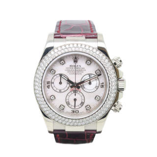 ROLEX DAYTONA DIAMOND MASTERPIECE 116589 BR CHRONOGRAPH  - The Cheshire Watch Company