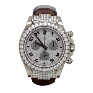ROLEX DAYTONA DIAMOND MASTERPIECE 116599 RBR CHRONOGRAPH  - The Cheshire Watch Company