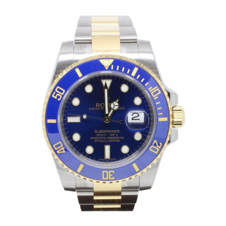 ROLEX SUBMARINER 116613LB 18CT YELLOW GOLD AND STEEL £9295.00 - The Cheshire Watch Company