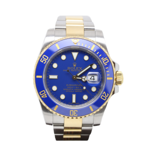 ROLEX SUBMARINER 116613LB 18CT YELLOW GOLD AND STEEL £9995.00