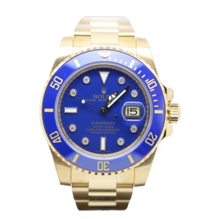 ROLEX SUBMARINER 116618 LB 18CT YELLOW GOLD DIAMOND DIAL £24,995.00  - The Cheshire Watch Company