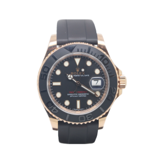 ROLEX YACHTMASTER 18CT ROSE GOLD 116655 £15,495.00 - Cheshire Watch Company