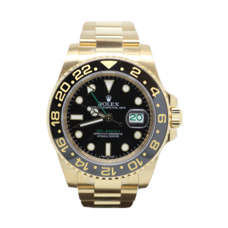 ROLEX GMT MASTER II 116718 LN 18CT YELLOW GOLD £21,495.00 - The Cheshire Watch Company