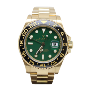 Rolex GMT Master II 116718LN 18ct yellow gold £17,995.00 - The Cheshire Watch Company