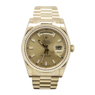 ROLEX DAYDATE 18CT YELLOW GOLD 118238 £16,995.00 - The Cheshire Watch Company