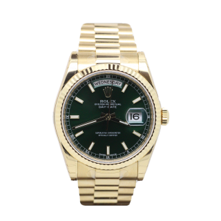 ROLEX DAYDATE 18CT YELLOW GOLD 118238 £18,995.00 - The Cheshire Watch Company