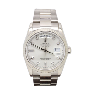ROLEX DAYDATE 118239 18CT WHITE GOLD £14,495.00 - The Cheshire Watch Company