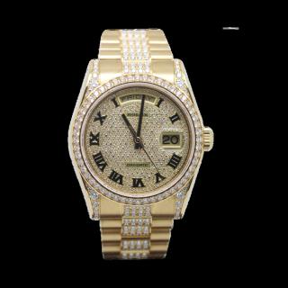 Rolex Daydate 118338 18ct yellow gold Diamond Masterpiece £66,995.00