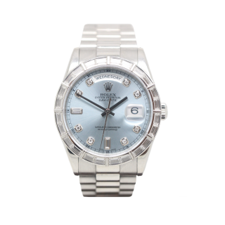 ROLEX DAYDATE 118366 PLATINUM DIAMOND PRESIDENT £44,995.00 - The Cheshire Watch Company