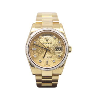 Rolex Daydate 118398BR 18ct Yellow Gold £34,495.00 - The Cheshire Watch Company