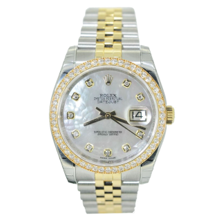 ROLEX DATEJUST 116243 18CT YELLOW GOLD AND STEEL  - C W C