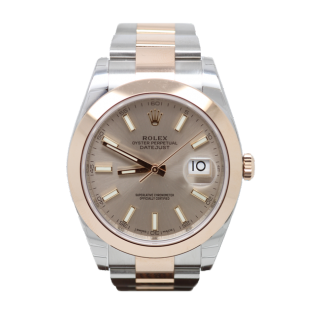 ROLEX DATEJUST 41 126301 18CT ROSE GOLD AND STEEL £8495.00 - Cheshire Watch Company