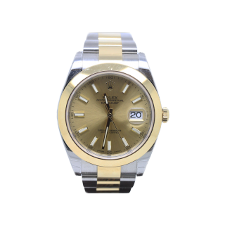 ROLEX DATEJUST 41 126303 18CT YELLOW GOLD AND STEEL £8100.00 - Cheshire Watch Company