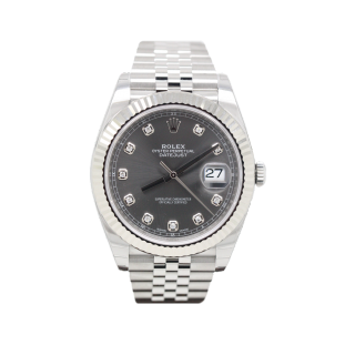 ROLEX DATEJUST 41 STEEL AND 18CT WHITE GOLD DIAMOND DIAL 126334 £7795.00  - Cheshire Watch Company