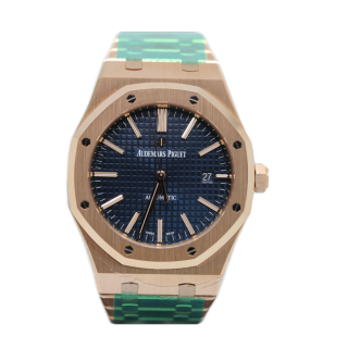 AUDEMARS PIGUET ROYAL OAK 18CT ROSE GOLD £33,000.00 15400OR.OO.1220OR.03 - Cheshire Watch Company