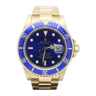 ROLEX SUBMARINER 16808 LB 18CT YELLOW GOLD £10,995.00  - The Cheshire Watch Company