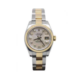 ROLEX LADY DATEJUST 179163 18CT YELLOW GOLD AND STEEL £6295.00