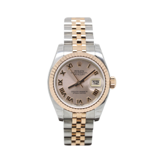 ROLEX DATEJUST 179171 STEEL AND 18CT ROSE GOLD - Cheshire Watch Company