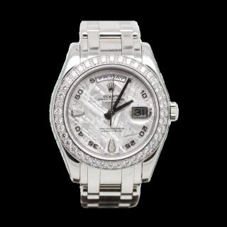 ROLEX DAYDATE PLATINUM DIAMOND MASTERPIECE 18946 £39,995.00 - The Cheshire Watch Company