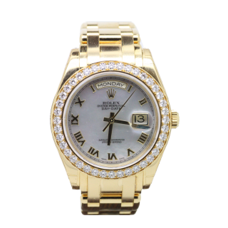 ROLEX DAYDATE DIAMOND MASTERPIECE 18948 £32,995.00 - The Cheshire Watch Company