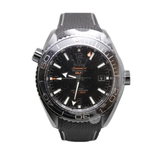 OMEGA SEAMASTER PLANET OCEAN GMT DEEP BLACK CERAMIC LIQUID METAL £6995.00 215.92.46.22.01.001 - The Cheshire Watch Company Wilmslow
