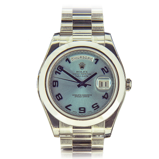 ROLEX DAYDATE II PLATINUM 218206 - The Cheshire Watch Company