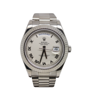 Rolex Daydate II 218239 18ct white gold £17,750.00 - The Cheshire Watch Company