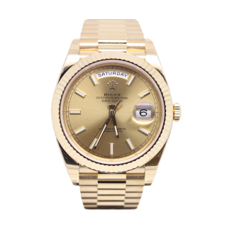 ROLEX DAYDATE 40 18CT YELLOW GOLD 228238 £21,995.00 - The Cheshire Watch Company