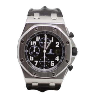 AUDEMARS PIGUET ROYAL OAK OFFSHORE BLACK THEMES CHRONOGRAPH £12,495.00 26020ST.OO.D101CR.01 - Cheshire Watch Company