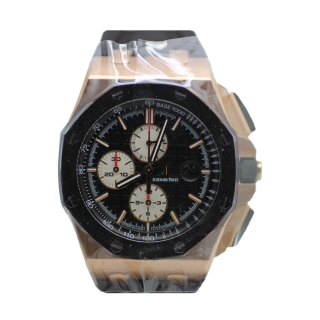 AUDEMARS PIGUET ROYAL OAK OFFSHORE 18CT ROSE GOLD CHRONOGRAPH 26401RO.OO.A002CA.01 £34,495.00 - Cheshire Watch Company