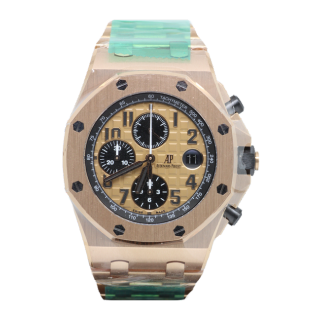 AUDEMARS PIGUET ROYAL OAK OFFSHORE 18CT ROSE GOLD CHRONOGRAPH 26470OR.OO.1000OR.01 £38,995.00 - Cheshire Watch Company