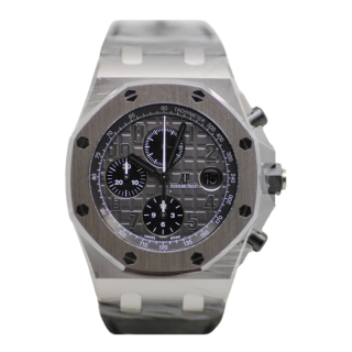 AUDEMARS PIGUET ROYAL OAK OFFSHORE ELEPHANT CHRONOGRAPH 26470ST.OO.A104CR.01  £16,495.00 - Cheshire Watch Company