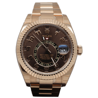 ROLEX SKYDWELLER 18CT ROSE GOLD 326935 £30,995.00 - The Cheshire Watch Company