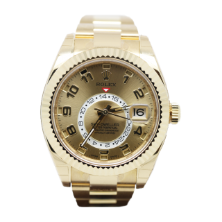 ROLEX SKYDWELLER 18CT YELLOW GOLD 326938 £29,995.00 - The Cheshire Watch Company