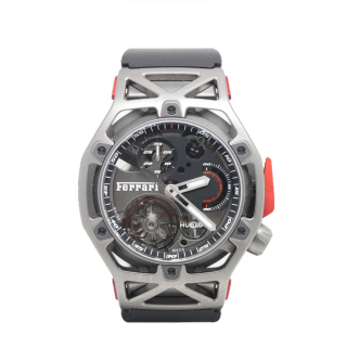 Hublot Ferrari Techframe Tourbillon 70th anniversary Limited Edition Chronograph £89,995.00  408.NI.0123.RX - The Cheshire Watch Company