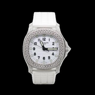 PATEK PHILIPPE LADIES DIAMOND AQUANAUT 18CT WHITE GOLD 5069G £35,000.00  - The Cheshire Watch Company