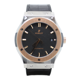 HUBLOT CLASSIC FUSION TITANIUM AND 18CT ROSE GOLD £6795.00 511.NO.1181.LR  - The Cheshire Watch Company