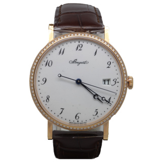 BREGUET CLASSIQUE DIAMOND 18CT ROSE GOLD 5178Br/29/9V6/D000 £14,295.00 - Cheshire Watch Company