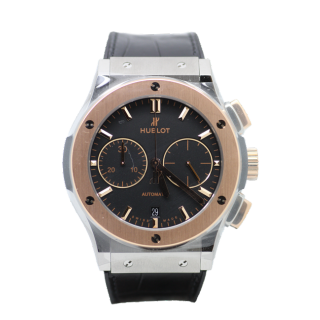 HUBLOT CLASSIC FUSION CHRONOGRAPH TITANIUM AND 18CT ROSE GOLD £8295.00 521.NO.1181.LR  - The Cheshire Watch Company