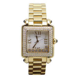 CHOPARD HAPPY SPORT 18CT YELLOW GOLD AND DIAMONDS 6777-23  - Cheshire Watch Company
