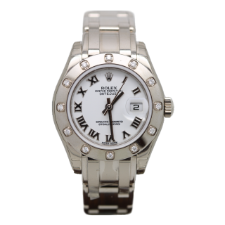 ROLEX PEARLMASTER 80319 18CT WHITE GOLD £17,800.00 - Cheshire Watch Company