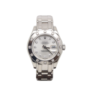 ROLEX PEARLMASTER 80319 18CT WHITE GOLD DIAMOND DIAL £10,995.00